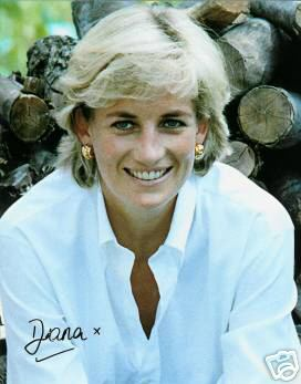 Diana Princess of Wales Autograph