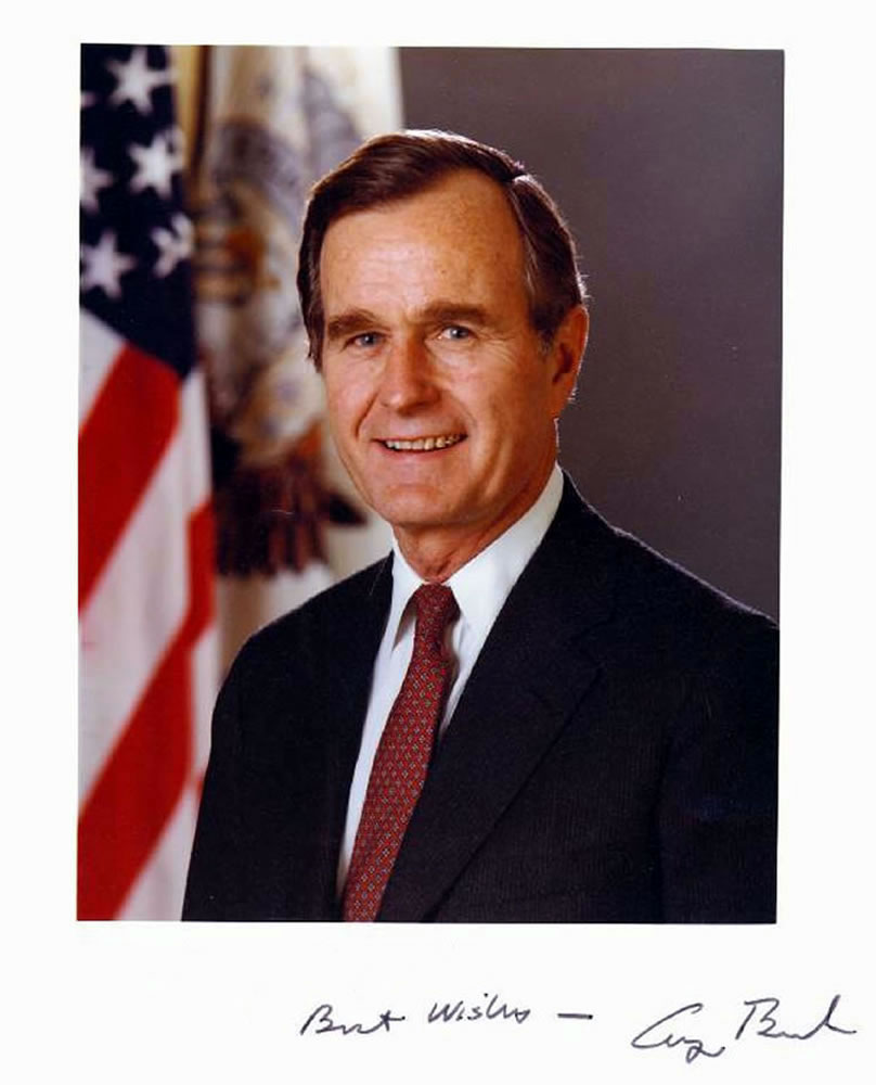 GEORGE H W BUSH was born on 12th june 1942 and served as the 41st ...