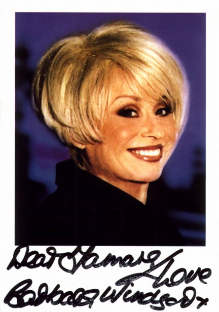 Barbara Windsor Autograph